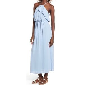 Dresses & Skirts - High Neck Ruffle Maxi with Nipped Waist